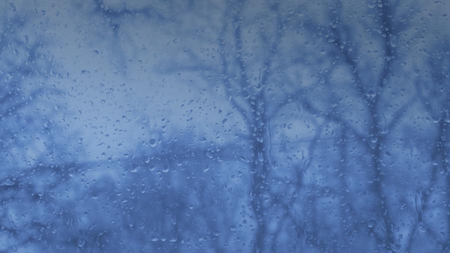 Snow/rain on window
