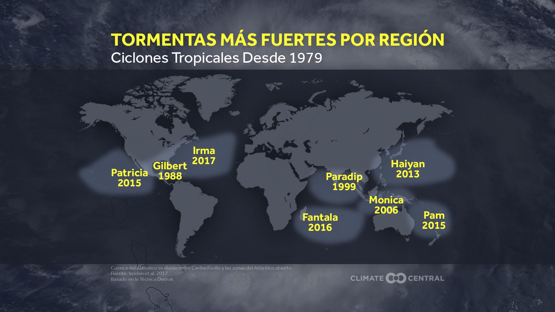 tropical cyclones map
